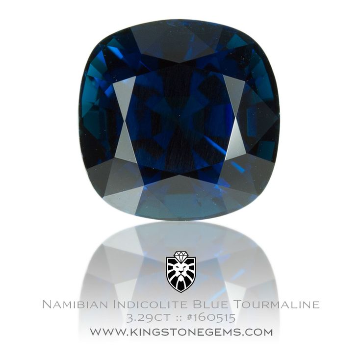 Namibia Indicolite Tourmaline - 3.29ct - 8.7X8.7X6.49mm - SKU# 160515 - Stunning blue tourmalines are just some of the fine natural gems in our collection.