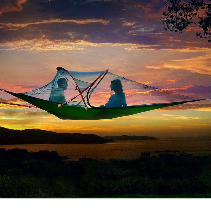 Tentsile hammock tent @ http://hammocktown.com/products/tentsile-connect-tree-tent-fresh-green