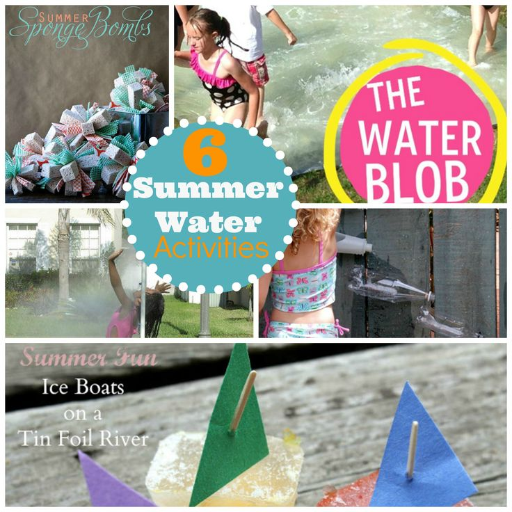 The Best Summer Water Activities for kids!  Cool them off and keep them busy! www.skiptomylou.org