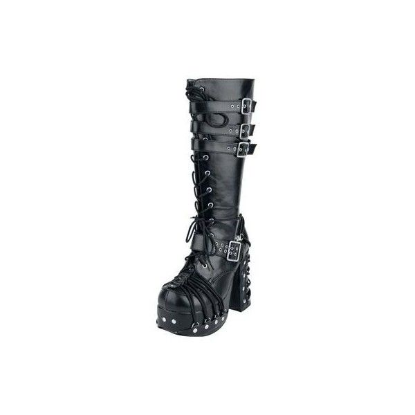 Demonia Gothic Goth Punk Poison 101 Ankle Boot Wedge Vegan Black... ❤ liked on Polyvore featuring shoes, boots, ankle booties, wedge booties, wedge ankle boots, black wedge bootie, wedge boots and wedge ankle booties
