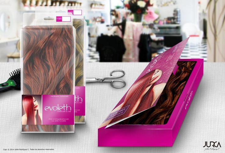 Diseño de marca y packing para empresa de productos capilares