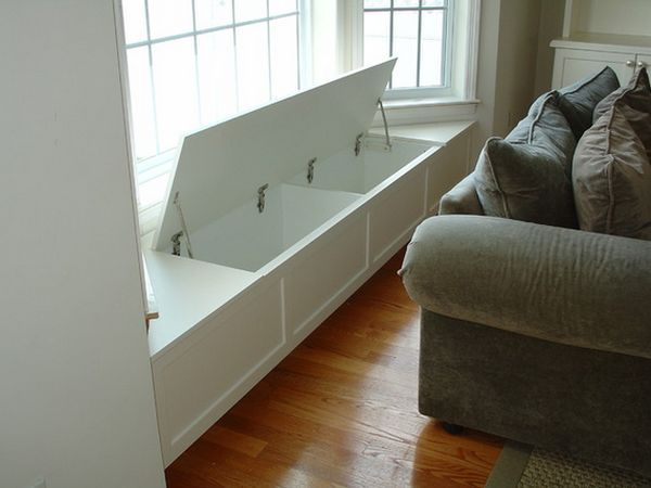 Low-Cost Storage. Want to build when we get to build out a bay window in the formal living room