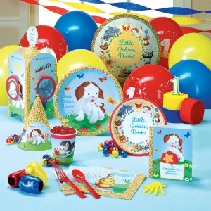 OH MY GOODNESS. . . if i hadn't already made so much stuff, I'd be switching Chippy's party to this theme!  ADORABLE!  GOlden Books party!