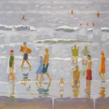 """""""Labor Day"""", Rob Diebboll, 2007, Oil on linen, 20 x 20"""", Private collection."""