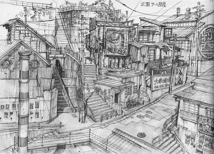 06 teikoku shounen architectural drawings in color and for Full size architectural drawings