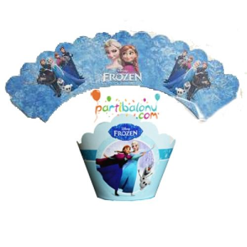 Frozen Cupcake Süsü Elsa Kek Süsü Ürün Özellikleri  Ürün Paketinde 10 Adet Frozen Kek kalıbı süsü bulunur. Karton Frozen Kek Sargıları Kaliteli baskı ve canlı renktir. Kap kek süsü keklerinizin etrafına sarılarak kullanılır. Elsa Doğum günü konseptine uygun mükemmel bir üründür.