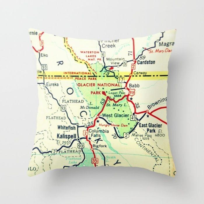 Best Map Decor Images On Pinterest Custom Map Throw Pillow - Us map pillow