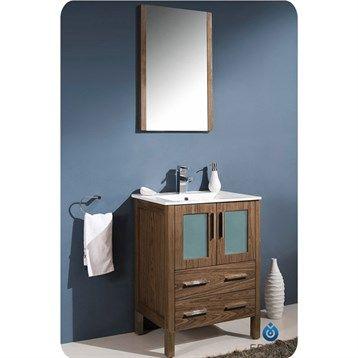 Photo Album Website Fresca Torino Walnut Brown Modern Bathroom Vanity with Integrated Sink es