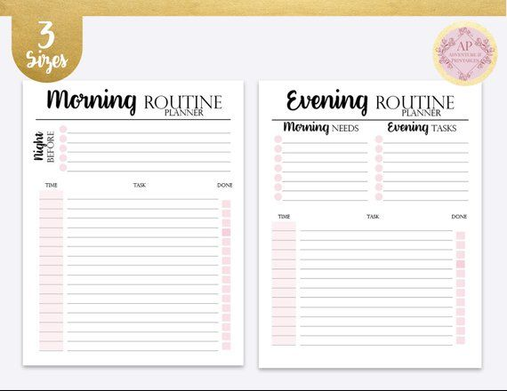 Daily Rituals Kit Morning And Evening Routine Night Ritual Morning Ritual Journal Template Journal Bullet Journal Printable Daily Routine Planner Evening Routine Daily Ritual