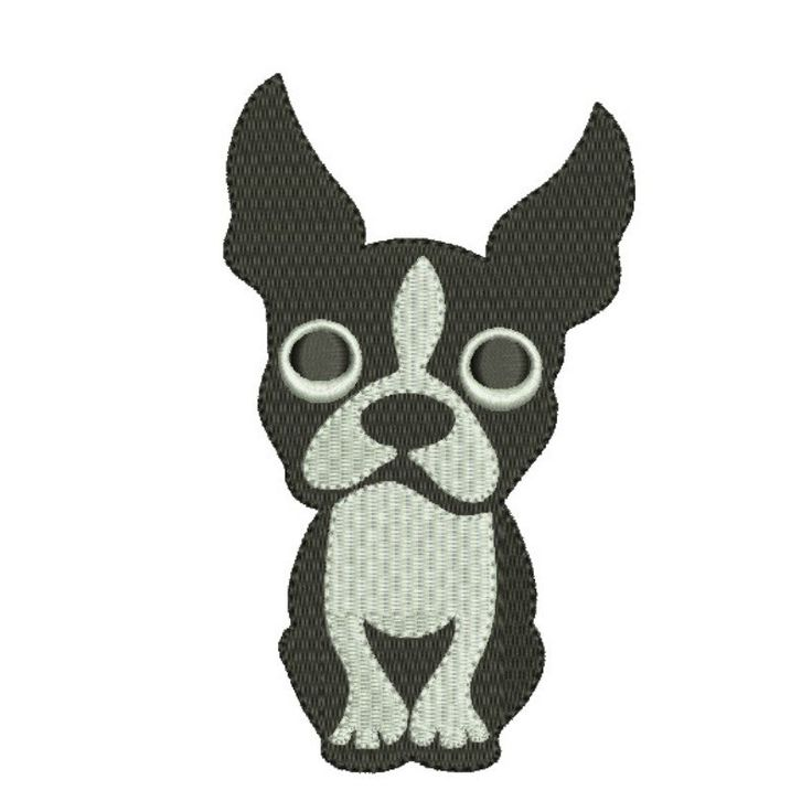 Boston Terrier embroidery design machine embroidery design Dog Digital Download  instant by GretaembroideryShop on Etsy