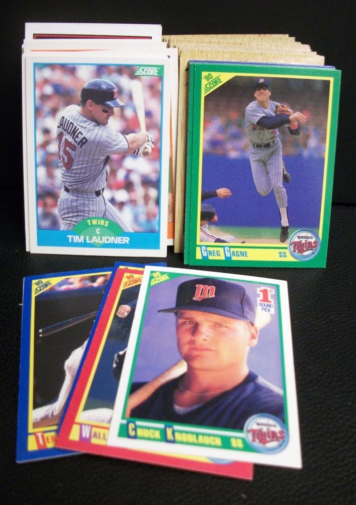 lot 1980s 1990s mlb baseball cards team mixed lot minnesota twins score topps from $0.99