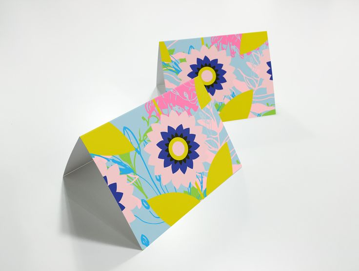 Pretty spring floral card
