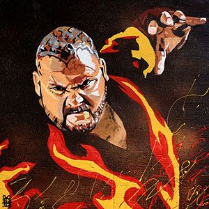 Purchase Bam Bam Bigelow print by Rob Schamberger