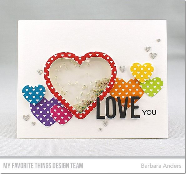 More Essential Sentiments, Blueprints 27 Die-namics, Happy Greetings Die-namics, Heart Shaker Window & Frame Die-namics, Tag Builder Blueprints 5 Die-namics - Barbara Anders #mftstamps
