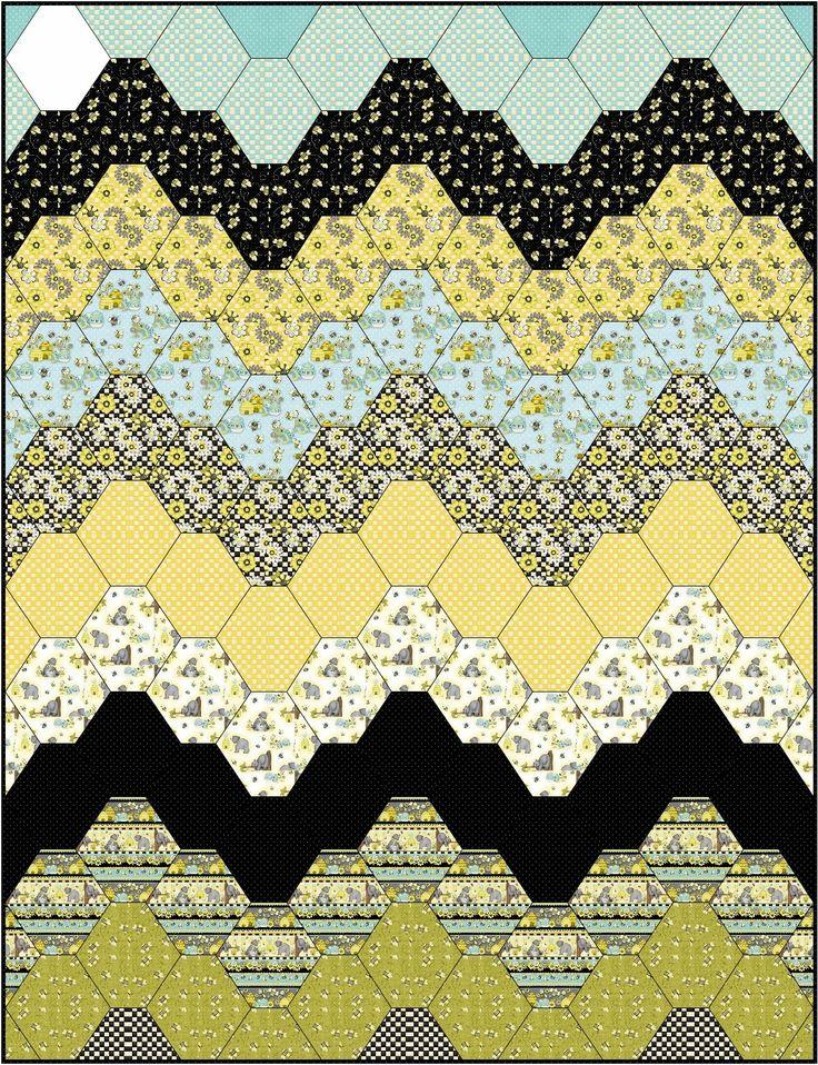 Best 25+ Hexagon quilt pattern ideas on Pinterest Hexagon quilt, Quilt patterns and Patchwork ...