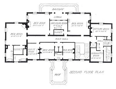 John russell pope 39 s meyer white house 2nd floor plan via for Meyer may house floor plan