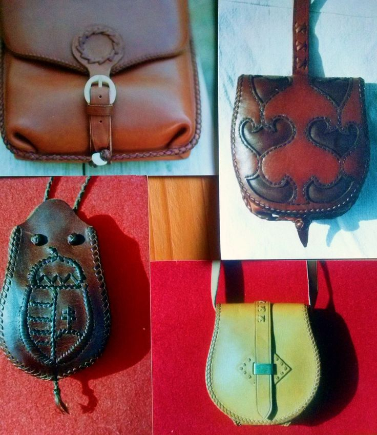 Leather bags, pouches. Made by Zoltan Feher