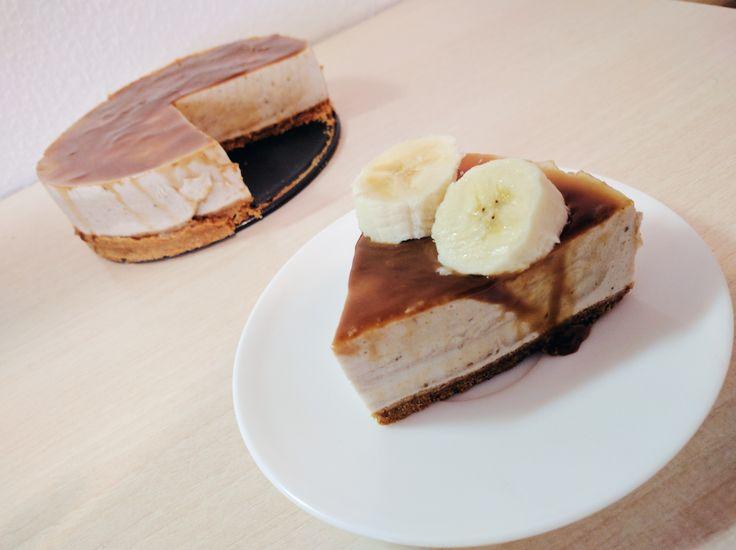 Cheesecake de plátano y dulce de leche