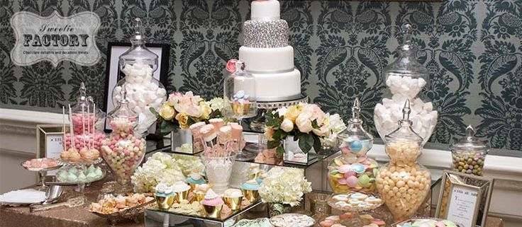 Candy-buffet-wedding - Candy Buffets l Sweetie Tables l Dessert Tables l Handmade truffles and Chocolate Gifts by the Sweetie Factory