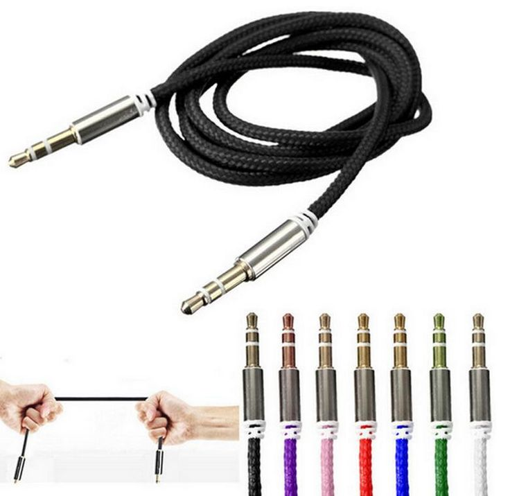 Gold 3.5mm Male to Male Car Aux Auxiliary Cord Stereo Audio Cable for Phone iPod random color