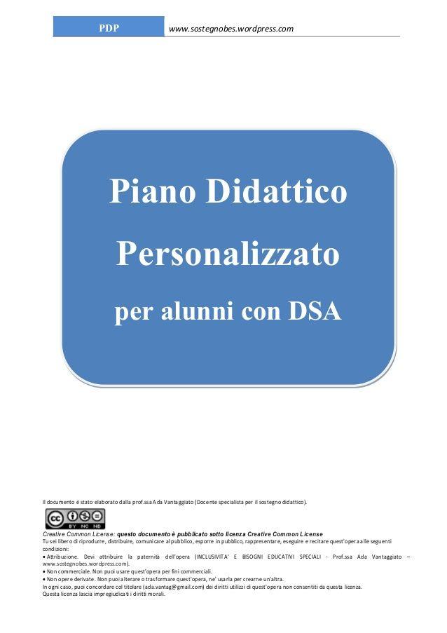 Piano didattico personalizzato per DSA di Ada Vantaggiato by Ada Vantaggiato via slideshare