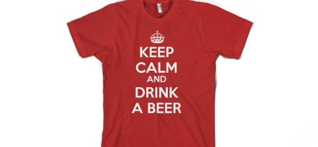 Homebrew Finds: Keep Calm and Drink a Beer T-Shirt - $11.98 Shipped