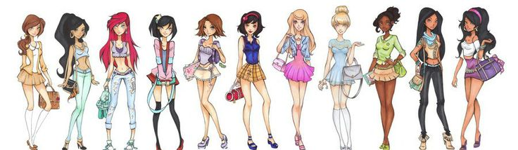Modern princess highschool school disney disney princesses disney