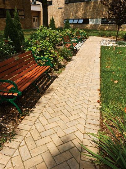 Brick Stone Harvest Blend 45 176 Herringbone Pattern With