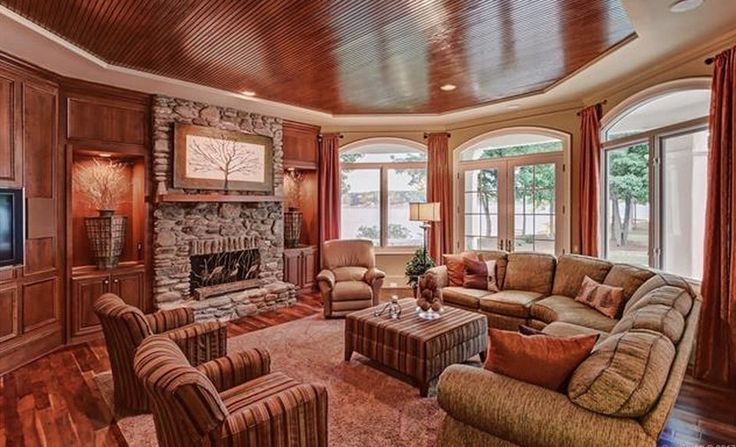 Lakefront Stone & Stucco Home In Denver, North Carolina | Homes of the Rich