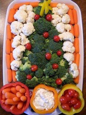 FOOD FANTASY....CHRISTMAS!!! Christmas Veggy Tray