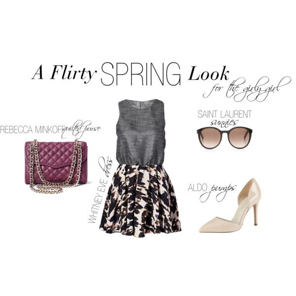 """""""Flirty Spring Look"""" by shopeluxe on Polyvore"""