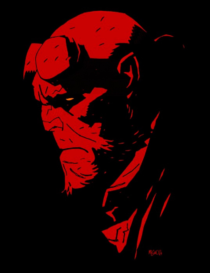 He is big. He is red. And he doesn't give a damn about what others expect him to be like. He goes his own way and choses his own destiny. Mike Mignola - Hellboy (Comics)