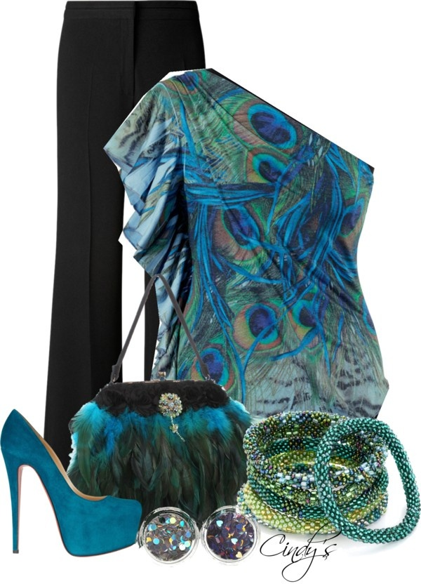 """Peacock Inspired Contest"" by cindycook10 on Polyvore"