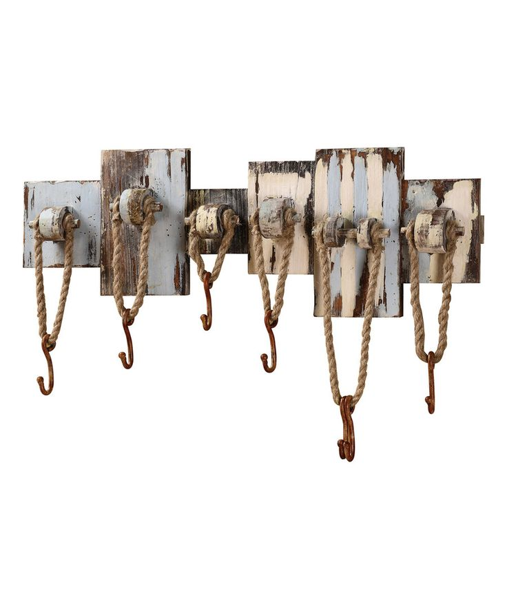 Look at this Nautical Wood & Rope Wall Hanger on #zulily today!