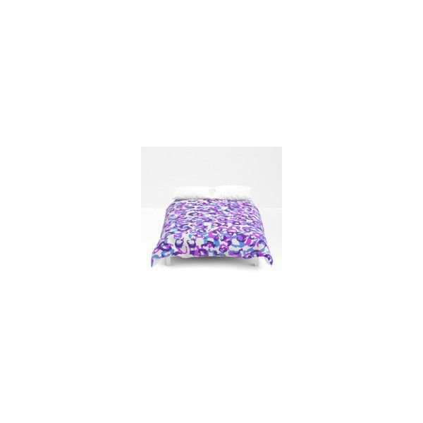 Pink Blue Purple and White Leopard Duvet Cover ❤ liked on Polyvore featuring home, bed & bath, bedding, duvet covers, pink bedding, leopard bedding, pink flamingo bedding, white bed linen and white leopard bedding