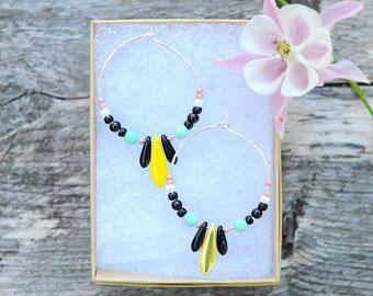 Milanka Design Beaded hoops earrings.