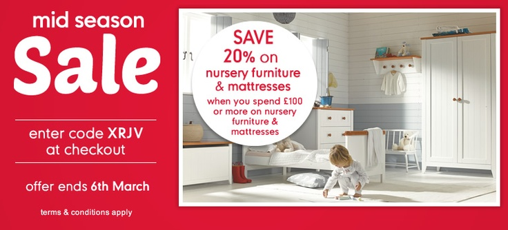 20% Off Nursery Furniture & Mattresses