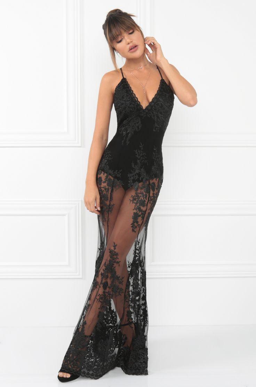 F f black dress dead