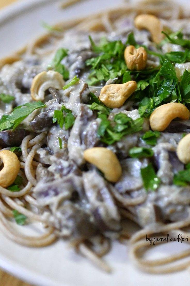 reteta spaghete de post cu ciuperci si ghimbir