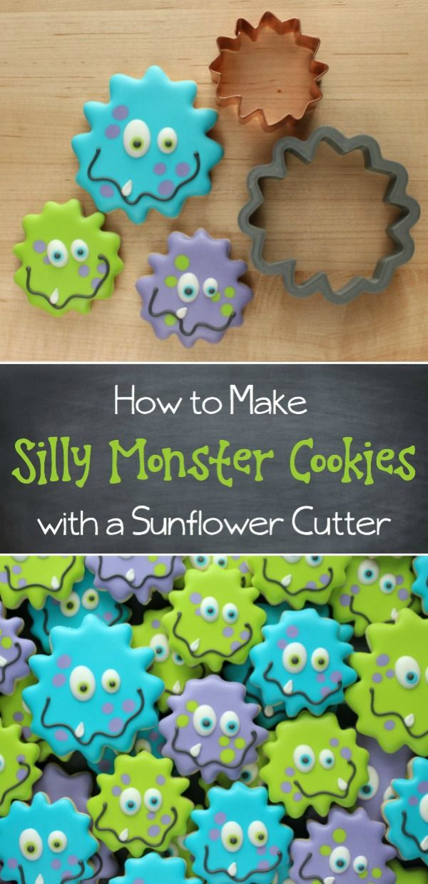 Silly Decorated Monster Cookies Tutorial ~ Sugarbelle (How To Make Cake Flowers)