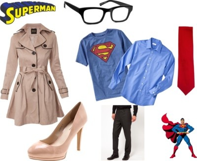 Lois Lane & Clark Kent Halloween Costumes..Hey Alicia here ya go a good halloween costume idea for you and Spencer!