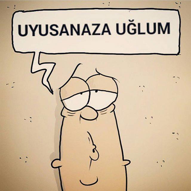 Uyusanaza uğlum.  #karikatür #mizah #matrak #komik #espri #serefefendiler