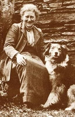 Beatrix Potter and Kep, 1915 (Helen Beatrix Potter 28 July 1866)                                                                                                                                                     More