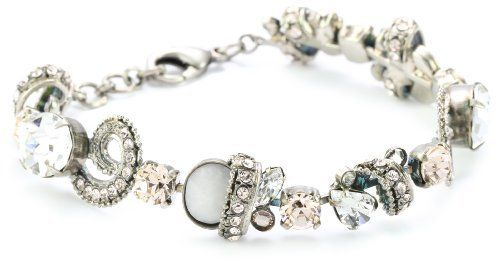 "Sorrelli ""Snow Bunny"" Neutral Crystal Aquatic Inspired Silver-Tone Bracelet Sorrelli. $140.50. Made in China. Store in a dry place"