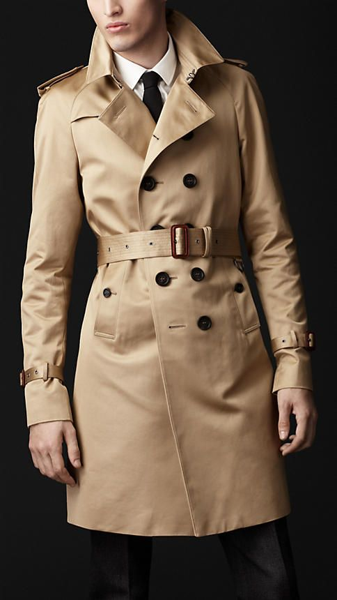 Cotton Military Trench Coat | Burberry  Any color will do. They had a leather one two years ago I really wish I woul have bought.