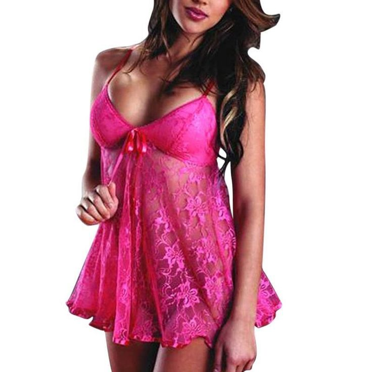 Zodaca Women's Lingerie Hot Babydoll Dress Sleepwear Underwear with Matchy G-String