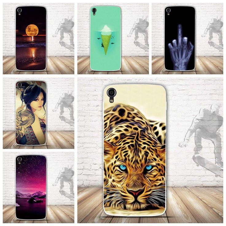 Tpu soft phone case para alcatel one touch idol 3 5.5 pulgadas 6045 6045y 6045 k cubierta del silicio de la piel para alcatel idol 3 6045 bolsas