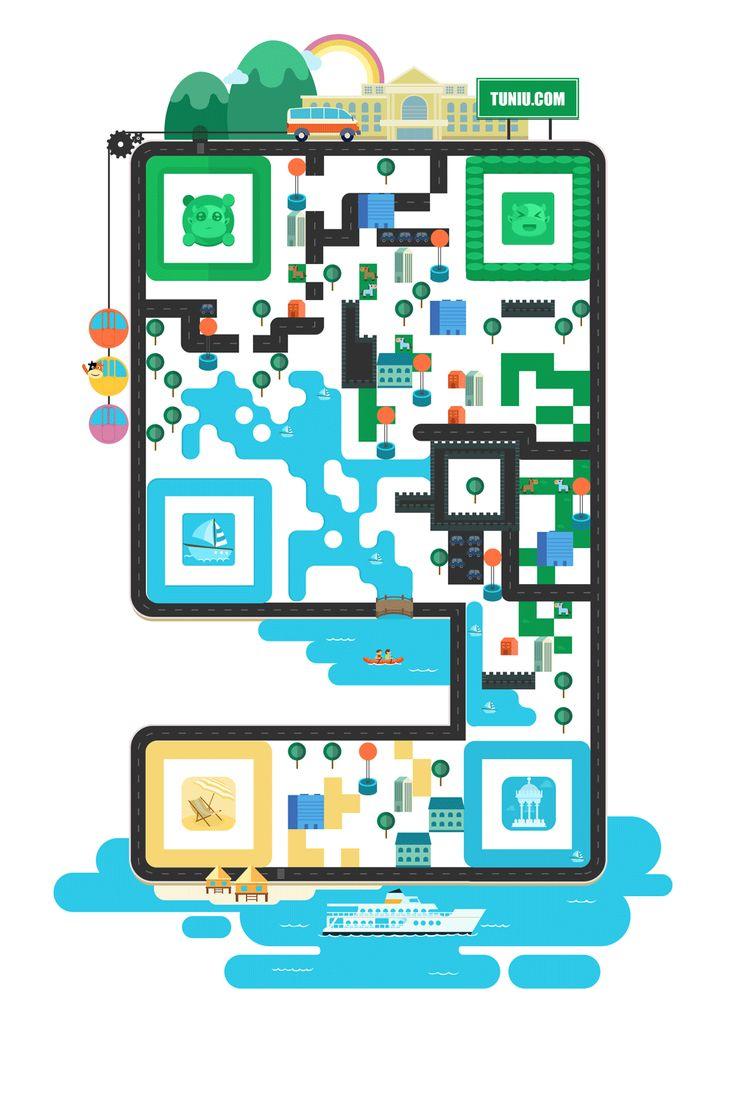 你的二维码看起来很流弊——如何设计创意二维码|技巧|原创/自译教程|超级英雄鸟鸟侠 - 设计文章/教程分享 - 站酷 (ZCOOL)