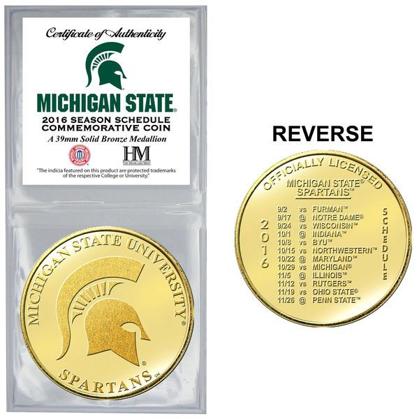 Michigan State Spartans Highland Mint 2016 Schedule Collector Coin - $14.99
