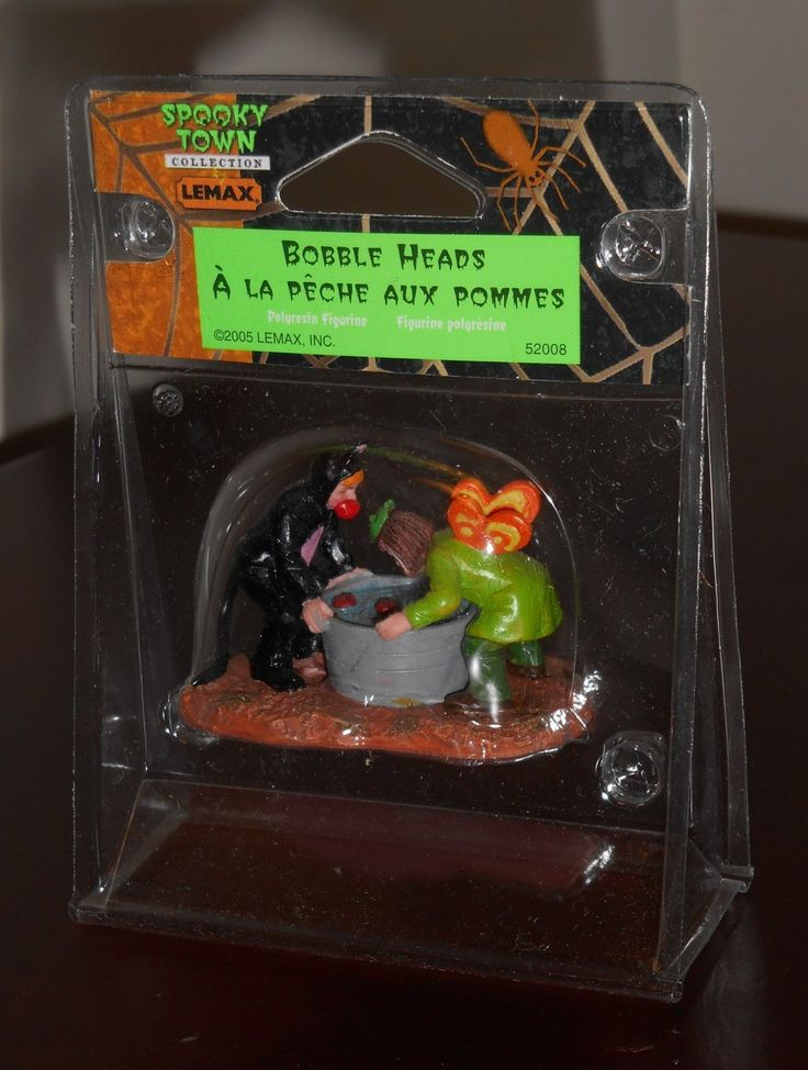 Bobble+Heads+Lemax+52008+Spooky+Town+Collection+2005 ... |Skull Puzzle Bobble
